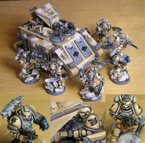 Painting Color Schemes Coolminiornot Space Wolves By Franz76