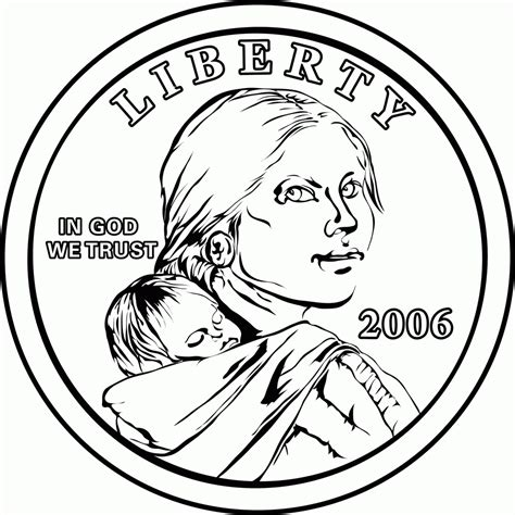sacagawea coloring pages qlyview com