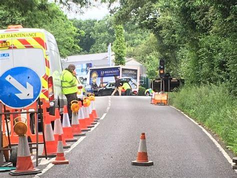 traffic chelmsford road shut   lorry