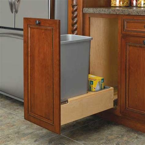 Built In Trash Cans For The Kitchen by Rev A Shelf Single Trash Pullout 50 Quart Wood 4wcbm 1550dm 1 Cabinetparts
