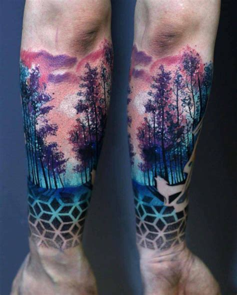 badass arm tattoos forest designs colorado tattoos