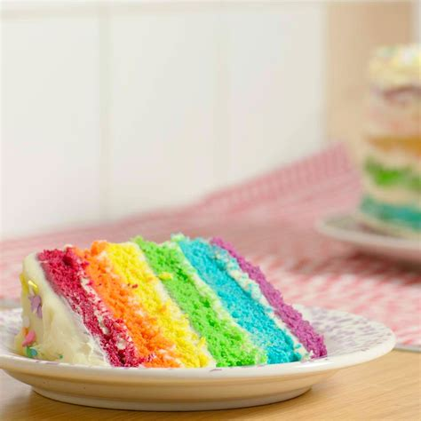 layered rainbow easy 6 layer rainbow cake step by step