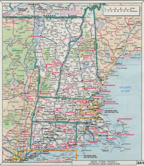 printable new hshire road map map road map new hshire