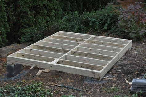 building foundation  garden shed
