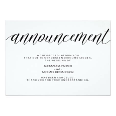 Wedding Cancellation Letter To Vendor Simple Wedding Invitations Announcements Zazzle