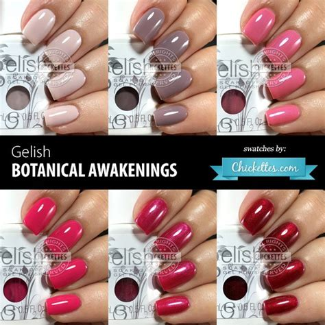 best color swatches of 2016 gelish botanical awakenings 2016 collection