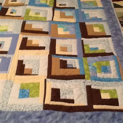 Log Cabin Baby Quilt by Scrappy Log Cabin Baby Quilt In Flannel