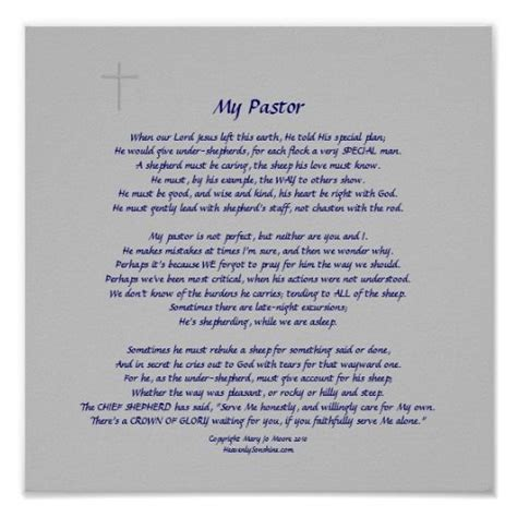 Appreciation Letter Quotes Poem For Pastor Appreciation Pastors Faint Cross