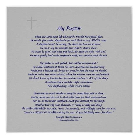 25  best ideas about Pastor appreciation poems on