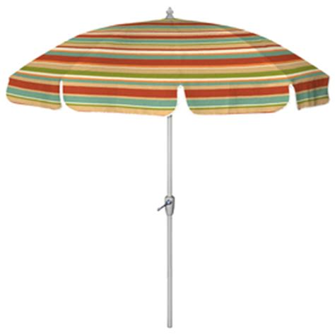 Striped Patio Umbrella Shop 7 6 Quot Multicolor Striped Patio Umbrella At Lowes