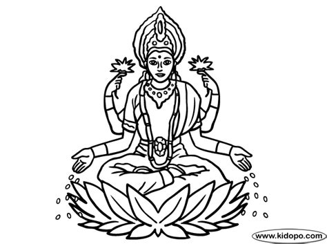 laxmi goddess coloring page coloring pages