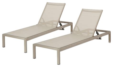 chaise lounge austin denise austin home holborn outdoor gray mesh chaise lounge