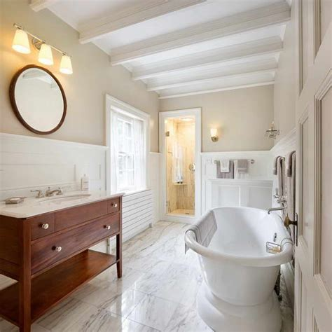 Bathroom With Wainscoting Ideas Bloombety Wainscoting In Bathroom Ideas With Marble Flooring Wainscoting In Bathroom Ideas