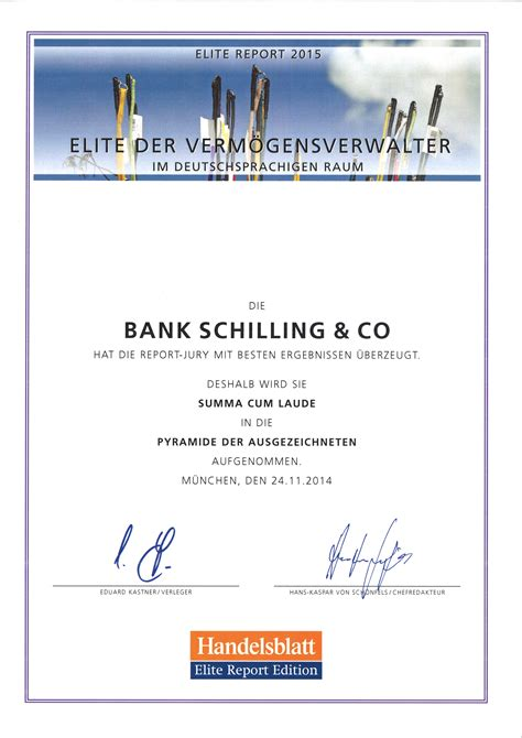 bank schilling co elite report 2015 bank schilling top verm 246 gensverwalter