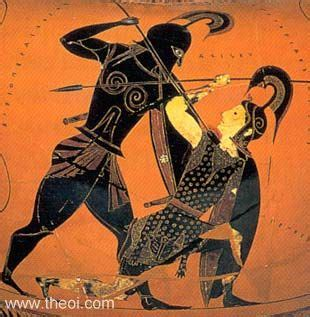 Achilles And Penthesilea Vase by The Ancient Hour 3 Achilles Lament 171 E Learning