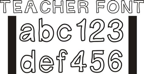 free printable outline fonts 42 free fonts for teachers teach junkie