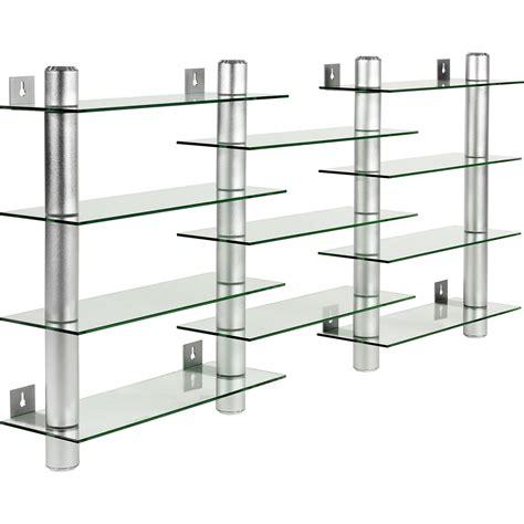 etagere regal design verre aluminium cd dvd 201 tag 232 re murale regal pour