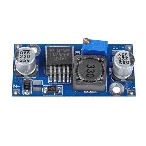 Module Dc Dc Step Buck Converter 2a Lm2596 Dengan Led Display sainsmart lm2596 dc dc buck converter step module power supply 1 23v 30v 3d printing