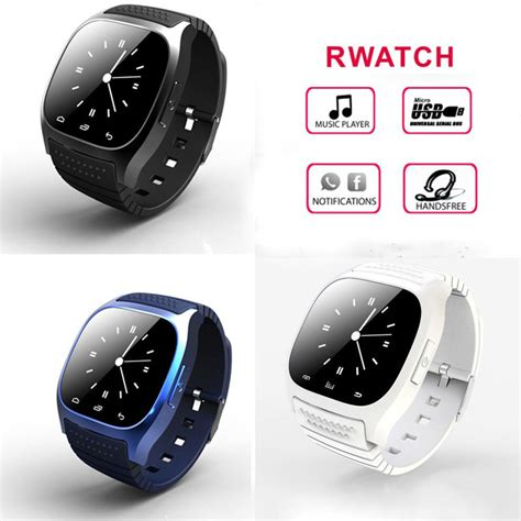 Smartwatch M26 For Android Ios Murah 2 rwatch m26 smart wristwatch bluetooth 3 0 android black new ebay
