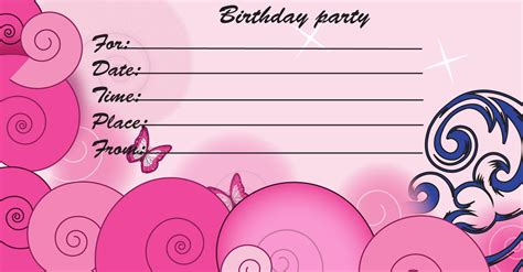 birthday invitation card template printable 19 inspirational birthday invitation cards and