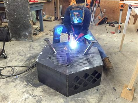 diy pit steel designs diy steel pit with cut