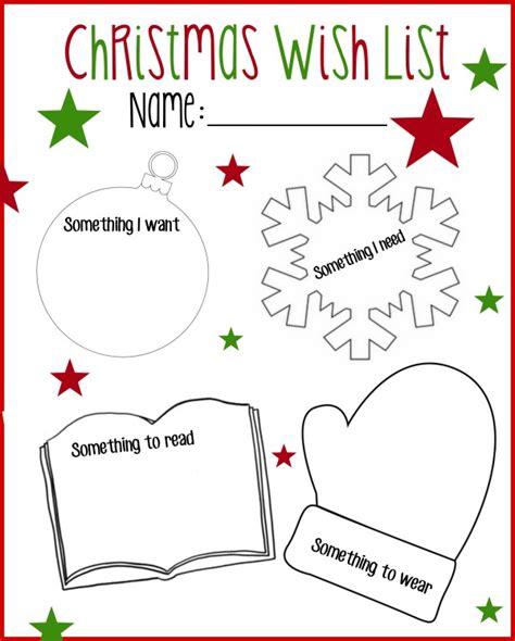 printable christmas list want need wear read printable christmas wish list want read wear need