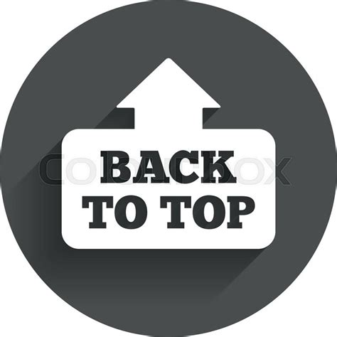 Back To Top | back to top arrow sign icon scroll up page symbol circle