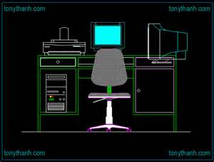 Desk And Chair Dwg Cad Block Desk Elevation Autocad Blocks Desk Chairs