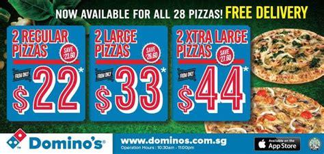 domino pizza singapore foodiefc domino s pizza singapore 2 regular pizzas for