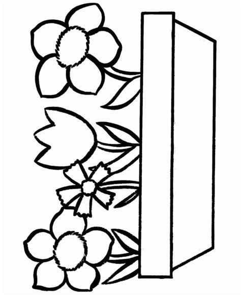 design flower coloring page easy flower design coloring page clipart best