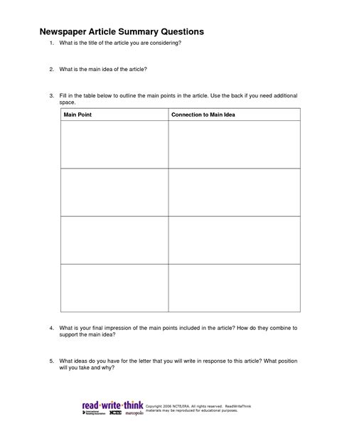 report summary template magazine article best photos of news article outline worksheet blank
