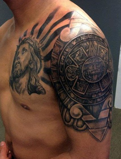 aztec tribal arm tattoos 80 aztec tattoos for ancient tribal and warrior