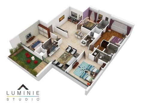 create 3d floor plans 3d floor plans cut section luminie studio