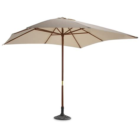 Square Patio Umbrellas 9x9 Square Market Umbrella Beige 156282 Patio