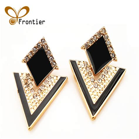 big black stud earrings for gold