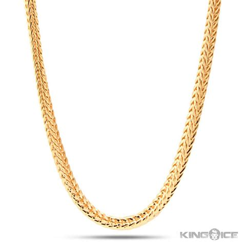 gold chain k gold chain necklace for mm mens k yellow gold plated franco chain beautiful