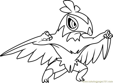 pokemon coloring pages hawlucha hawlucha pokemon coloring page free pok 233 mon coloring