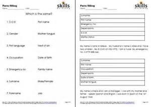 esol form filling skills workshop