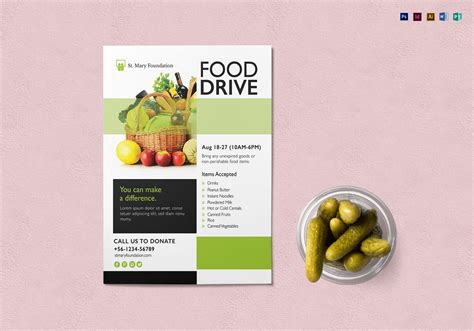 Food Drive Flyer Template Word