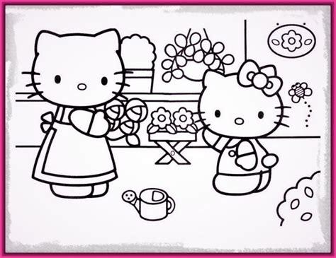 imagenes de kitty para imprimir a color encantadores dibujos hello kitty para colorear e imprimir