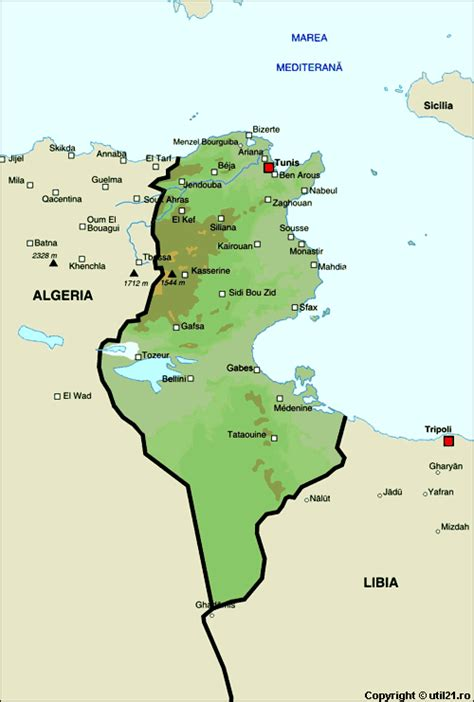 where is tunisia located on a map map of tunisia maps worl atlas tunisia map maps