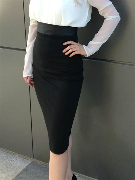 Best Quality Talullah Color Maxi Shirt Dress Belt Not Included All black pencil skirt high waisted leather skirt knee