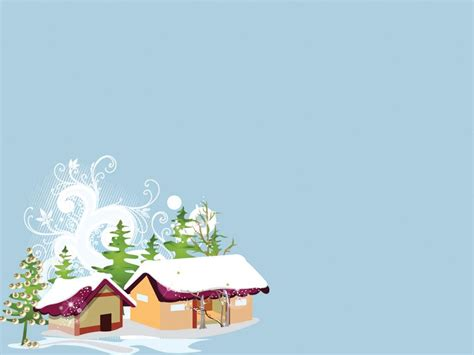 layout powerpoint natal new year snow house backgrounds 1024x768px resolution