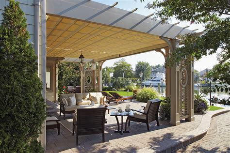 Pergola With Retractable Awning by 22 Awesome Pergolas With Retractable Awnings Pixelmari
