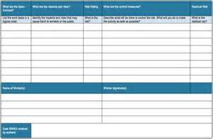 Contractor Risk Assessment Template by Generic Risk Assessment Template