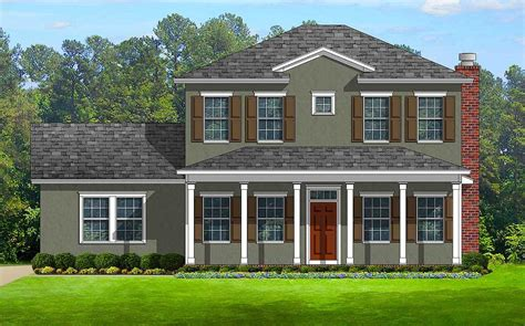 House Plans With Front And Back Porches by Colonial With Front And Back Porches 82099ka