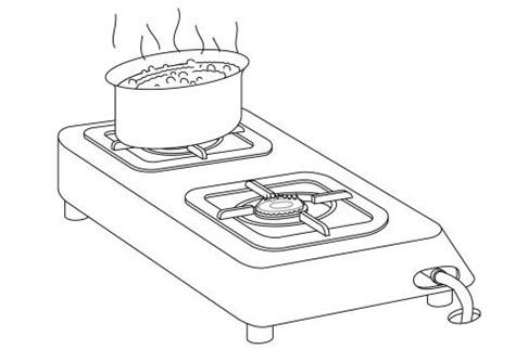 boiling water coloring page stove drawing colouring pages