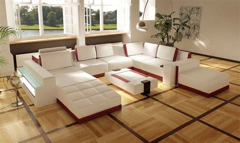 White Leather Sofa Design For Living Room Ideas