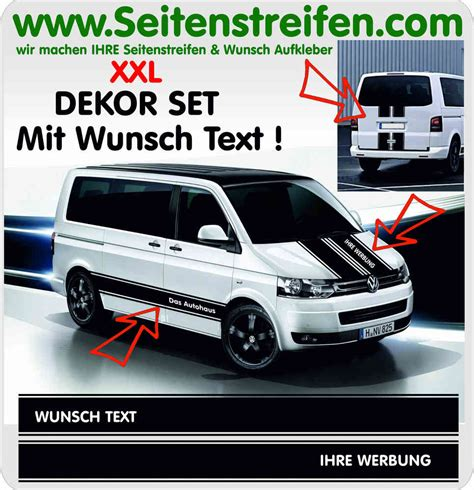 Vw Logo Aufkleber Xxl by Vw Bus T4 T5 T6 Wunsch Text Dein Logo Xxl Aufkleber