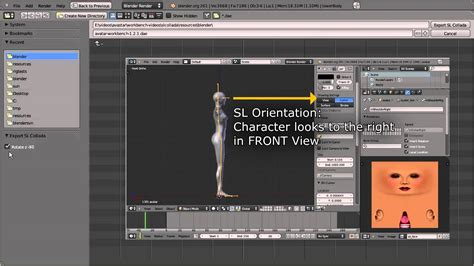 second life templates for blender sl collada mesh export to second life with blender 2 59